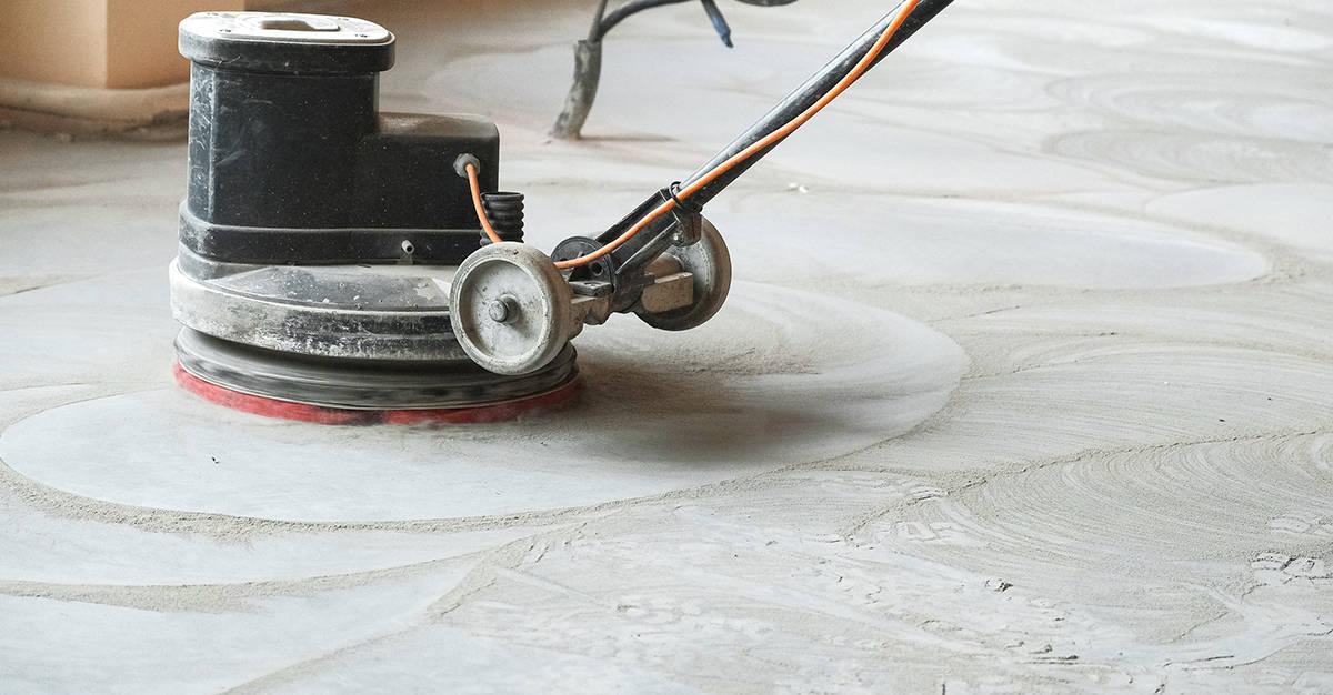 Terrazzo Boden schleifen - Wir machen Ihren Boden wieder glänzend